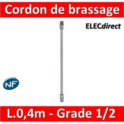 Legrand - Cordon de brassage pour réseau grade 1 et 2 - long. 0,4m - 413048