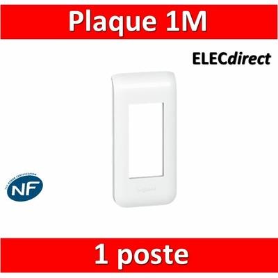 Legrand Mosaic - Plaque 1 module - 1 poste - 078801