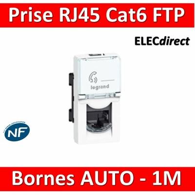 Legrand Mosaic - Prise RJ45 Cat. 6 FTP 1 module - 076562