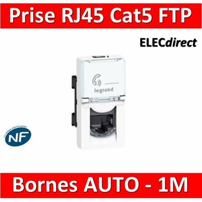 Legrand Mosaic - Prise RJ45 Cat. 5 FTP 1 module - 076552