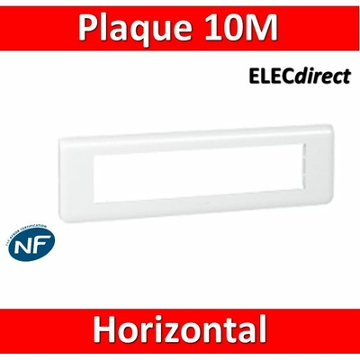 Legrand Mosaic - Plaque 10 modules - horizontal - 078810