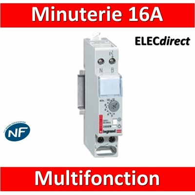 Legrand - Minuterie multifonction 16A - 230V - 004704