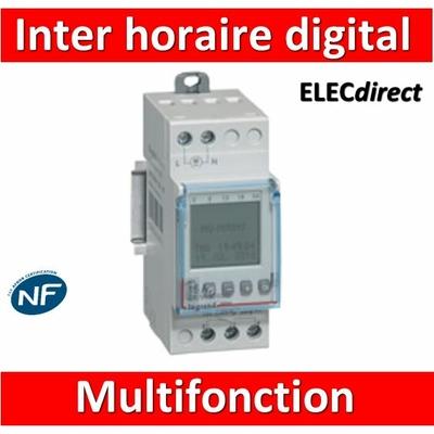 Legrand - Interrupteur horaire programmable digital - multifonction - AUTO -  1 sortie - 16A - 412631