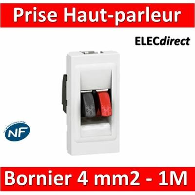 Legrand Mosaic - Prise Haut-parleur - 1 module - 078750