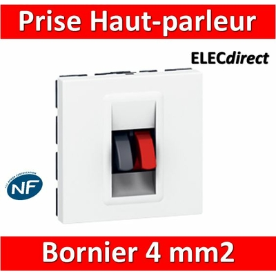 Legrand Mosaic - Prise Haut-parleur - 2 modules - 078751