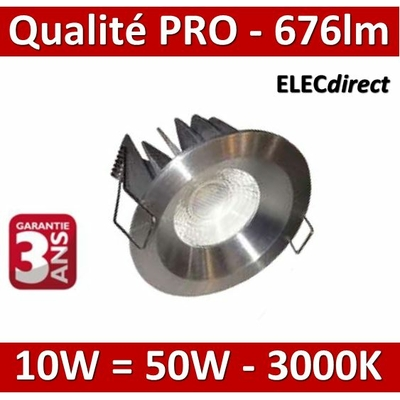 Lited - Spot LED 10W MonoLED - ALU -  3000K - 676lm - dans la limite des stocks disponibles