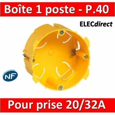 Legrand Batibox - Boîte d'encastrement 1 poste pour prise 20 et 32A - Prof. 40 - 089348