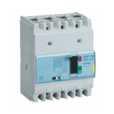 Legrand - Disjoncteur de puissance DPX3 160 - magnéto-thermique - 25 kA - 4P - 100A - 420055