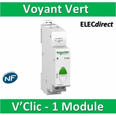 Schneider - Voyant modulaire Vert V'Clic - 16193
