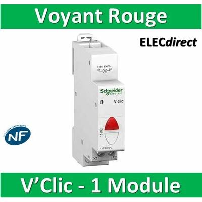 Schneider - Voyant modulaire Rouge V'Clic - 16192