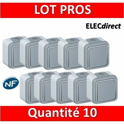 Legrand Plexo - LOT PROS - Va-et-Vient 10A - 230V - IP55/IK07 - 069711x10