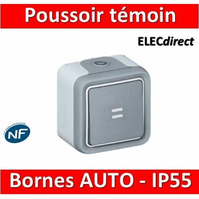 Legrand Plexo - Bouton poussoir témoin 10A - 230V - IP55/IK07 - 069723