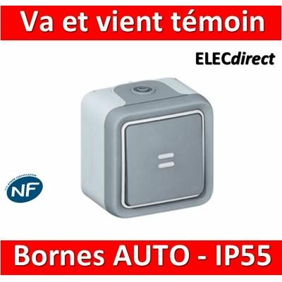 Legrand Plexo - Va-et-Vient témoin 10A - 230V - IP55/IK07 - 069712