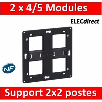 Legrand - Support 2x2 postes (2x4/5M) - Mosaic/Céliane - Fixation VIS - 080264