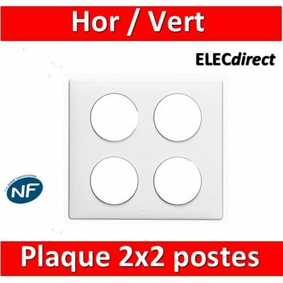 Legrand Céliane - Plaque 2 x 2 postes - Blanc - 068608