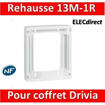 Legrand - Rehausse pour coffret Drivia 13 modules 1 rangée - 401371