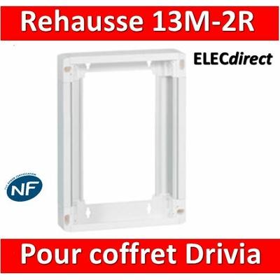 Legrand - Rehausse pour coffret Drivia 13 modules 2 rangées - 401372