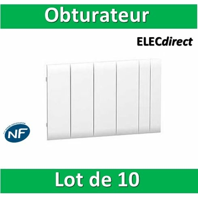 Schneider - Lot de 10 Obturateurs coffrets Resi / Pragma fractionnable - R9H13387