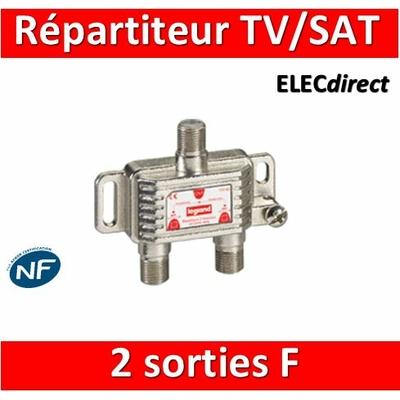 "Legrand - Répartiteur TV/Satellite - 2 sorties ""F"" - 073980"