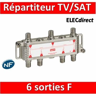 "Legrand - Répartiteur TV/Satellite - 6 sorties ""F"" - 073983"