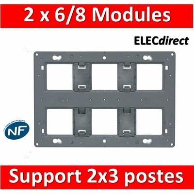 Legrand - Support 2x3 postes (2x6/8M) - Mosaic/Céliane - Fixation VIS - 080266