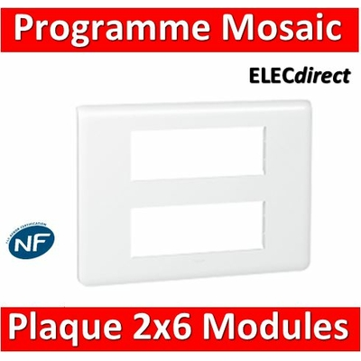 Legrand Mosaic - Plaque 2 x 6 modules - Blanc - 078836