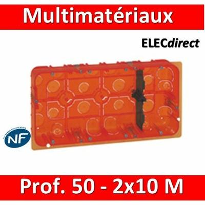 Legrand Batibox - Boîte multimatériaux - 2x10M - profondeur 50 mm - 080128