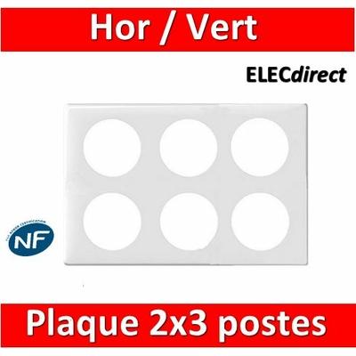 Legrand Céliane - Plaque 2 x 3 postes - Blanc - 068609
