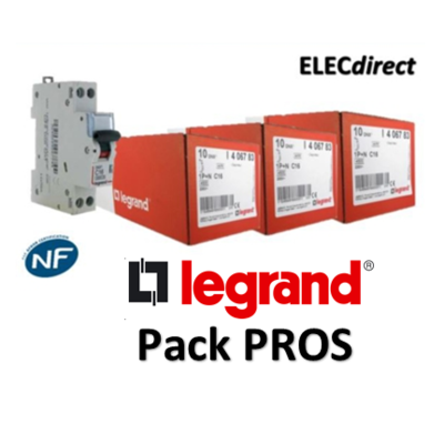 Legrand - Pack PROS - 19 Disjoncteurs DNX3 - 406771x2 + 406773x5 + 406774x5 + 406775x5 + 406777x2
