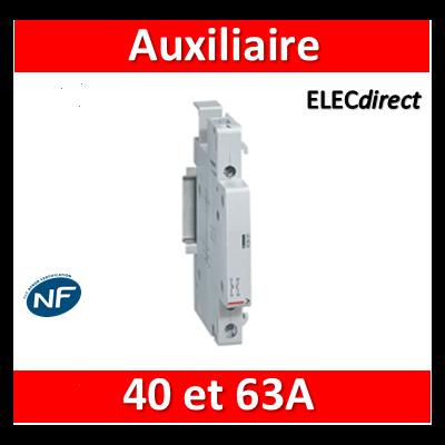 Legrand - Auxiliaire pour contacteur 40A et 63A - Contact O+F inverseur - 412431
