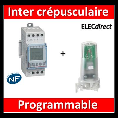 Legrand - Interrupteur crépusculaire programmable - 230V - 412626