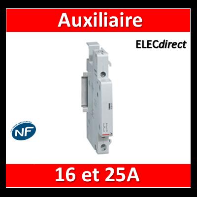 Legrand - Auxiliaire pour contacteur 16A et 25A - Contact aux inverseur - 412429
