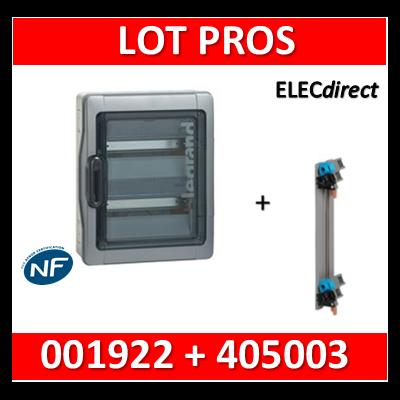 Legrand - Coffret étanche Plexo 24 modules + peigne verticale - 2 rangées - IP65/IK09 - 001922+405003