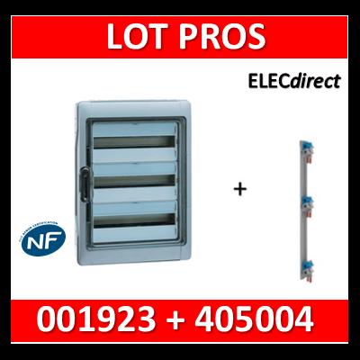 Legrand - Coffret étanche Plexo 36 modules + peigne verticale - 3 rangées - IP65/IK09 - 001923+405004