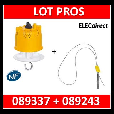Legrand Batibox - Kit point de centre DCL + kit de suspension - 089337+089243