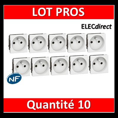 Legrand Mosaic - LOT PROS - Prise de courant 2P+T 16A - 230V - 077111x10
