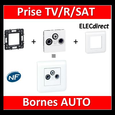Legrand Mosaic - Prise TV/R/SAT complet - 1 poste (2M) - 230V