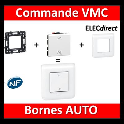 Legrand Mosaic - Commande VMC complet - 1 poste (2M) - 230V
