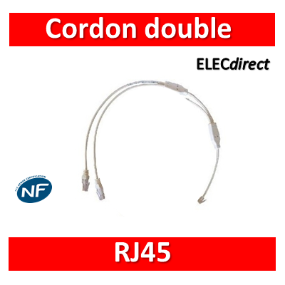 Legrand - Cordon double téléphone RJ45 pour coffret avec brassage - 413202