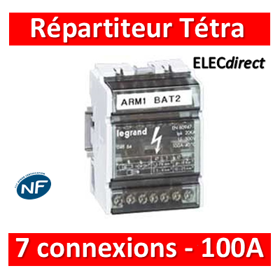 Legrand - Répartiteur 7 connexions - 4 modules - 100A - 004884