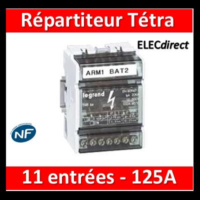 Legrand - Répartiteur 11 connexions - 6 modules - 125A - 004886