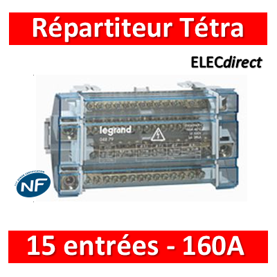 Legrand - Répartiteur 15 connexions - 10 modules - 160A - 004879