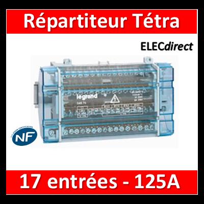 Legrand - Répartiteur 17 connexions - 10 modules - 125A - 004876