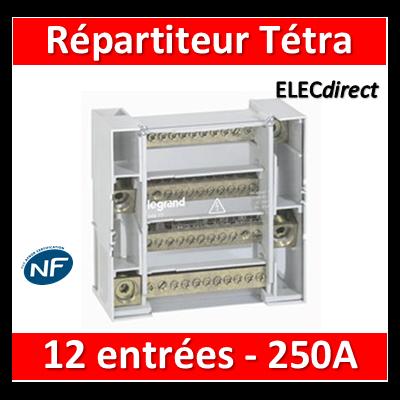 Legrand - Répartiteur 12 connexions - 9 modules - 250A - 004877