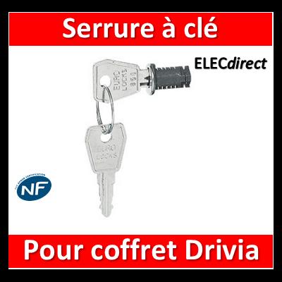 Legrand - Serrure à clé N 850 pour coffret Drivia 13 et 18M - 401391