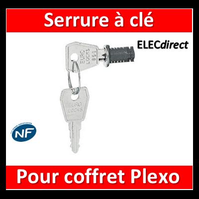 Legrand - Serrure à clé N 850 pour coffret Plexo - 001966