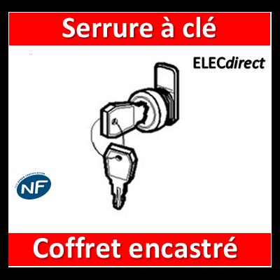 Legrand - Serrure à clé N 850 pour coffret encastré - 001491