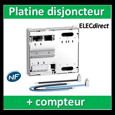 Schneider - Platine pour Disjoncteur branchement + compteur - Mono - 13M - prof. 45mm - R9H13416