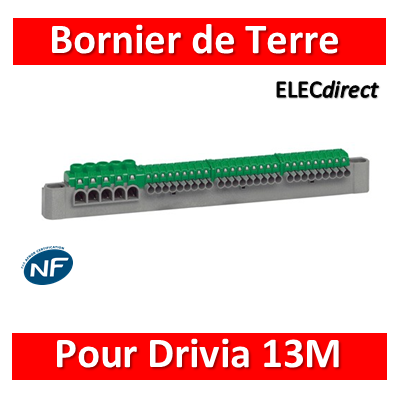Legrand - Bornier de répartition terre - L. 227mm - 13M - 405055
