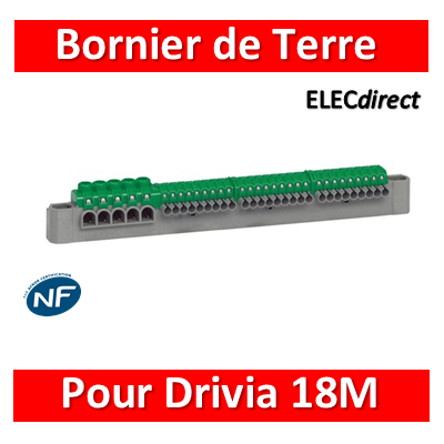 Legrand - Bornier de répartition terre - L. 332mm - 18M - 405057